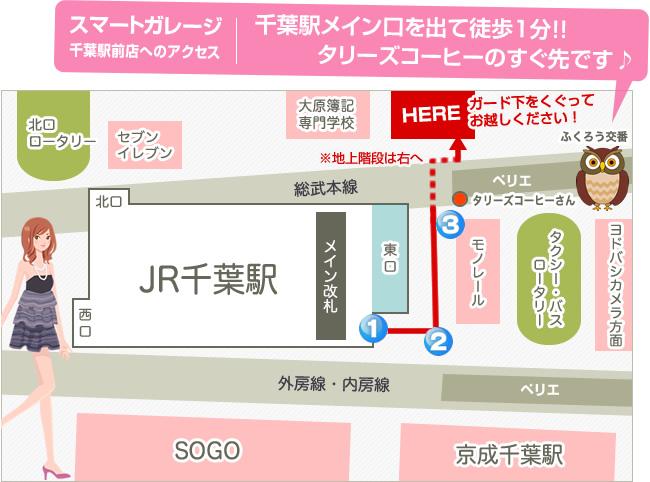 千葉駅前店アクセスマップ